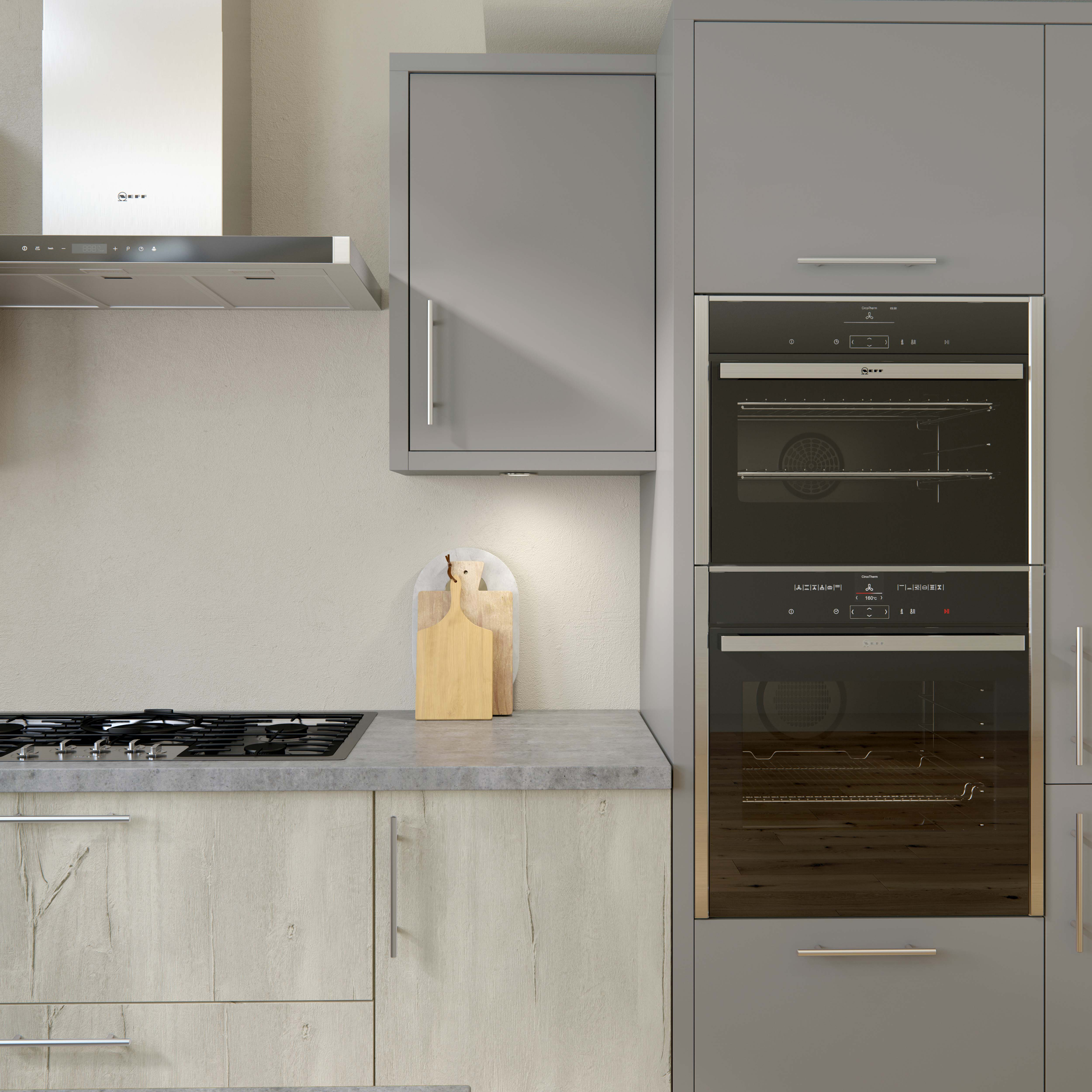 Linden woodgrain kitchen Crestwood of Lymington