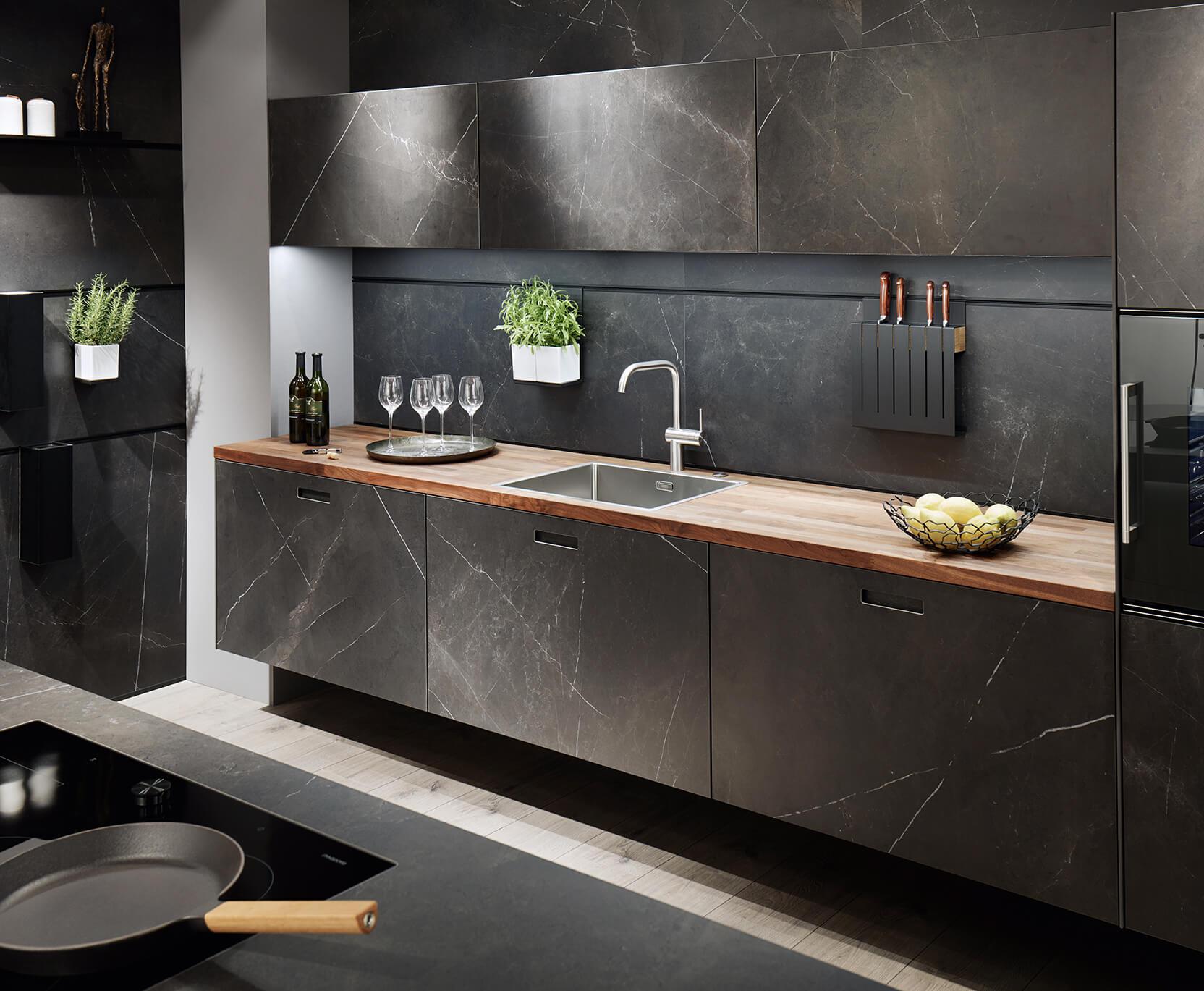 Dark Marble Kitchen Design
